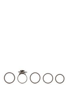 ValentinoOrchid brass five ring set