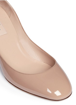 Detail View - Click To Enlarge - Valentino - 'Tan-Go' ankle strap patent leather pumps