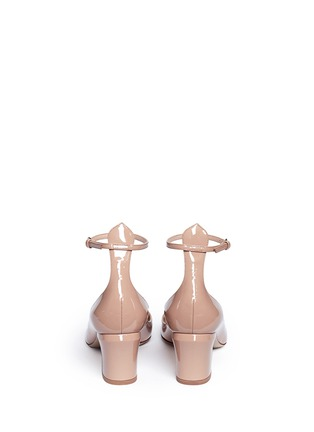 Back View - Click To Enlarge - Valentino - 'Tan-Go' ankle strap patent leather pumps