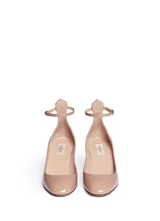 Front View - Click To Enlarge - Valentino - 'Tan-Go' ankle strap patent leather pumps