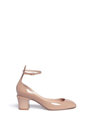Main View - Click To Enlarge - Valentino - 'Tan-Go' ankle strap patent leather pumps