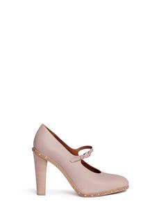 Valentino'Rockstud' leather Mary Jane pumps