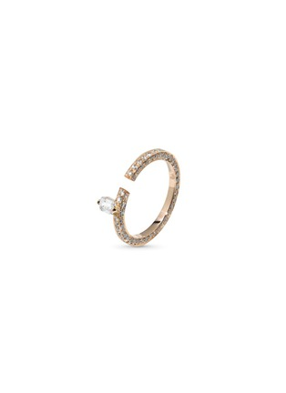 Main View - Click To Enlarge - Dauphin - 'Disruptive' pavé diamond 18k rose gold ring