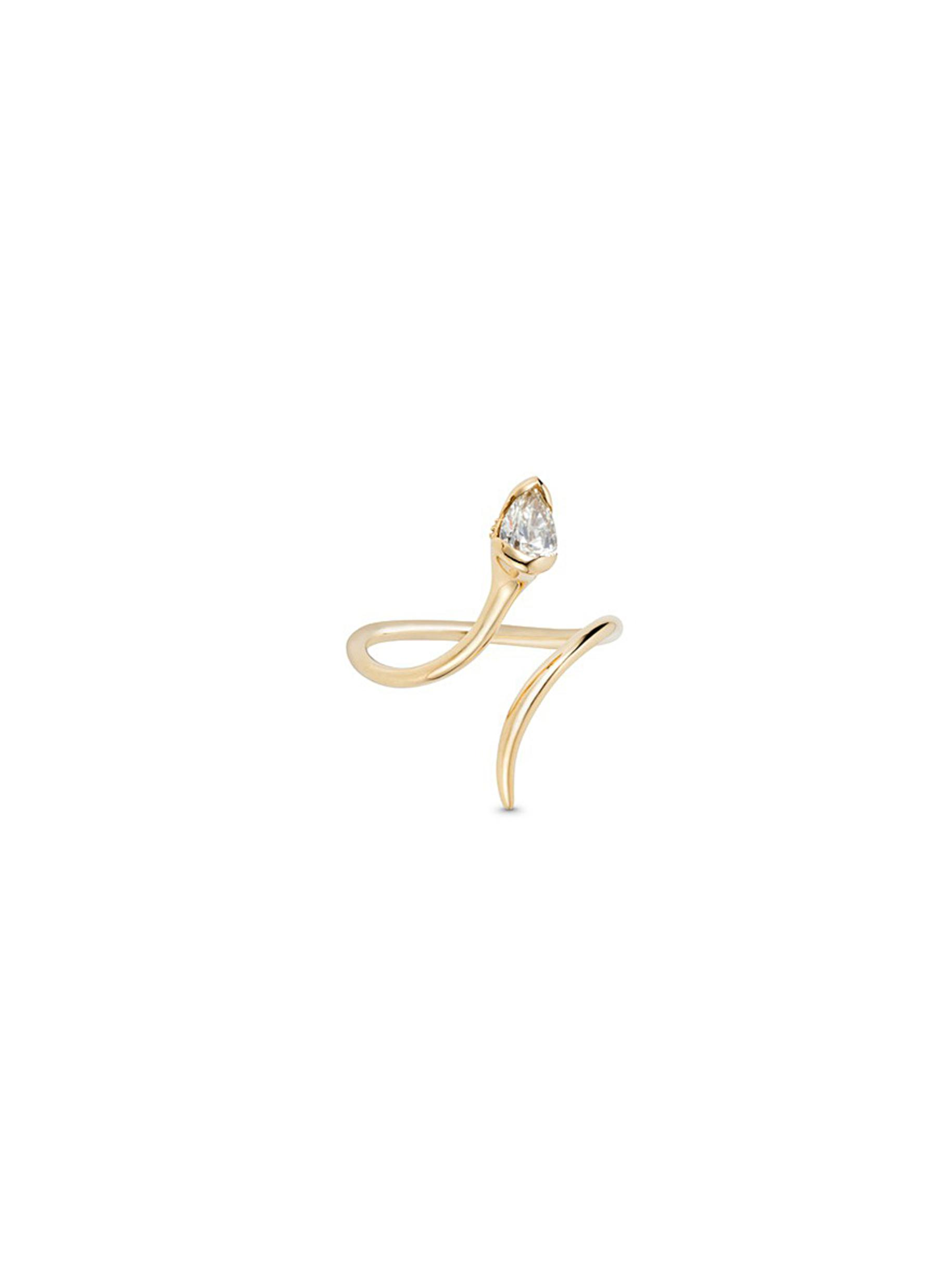 Sprout diamond 18k gold open ring by Fernando Jorge