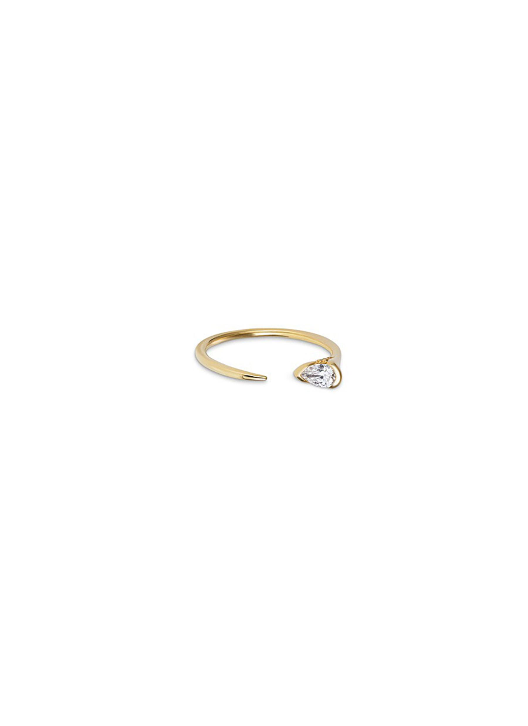 Sprout diamond 18k gold ring by Fernando Jorge
