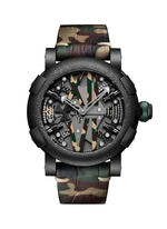 Steampunk Auto camouflage PVD coated Titanic steel watch