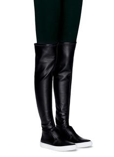 Pierre Hardy'Fetish' faux leather sneaker boots