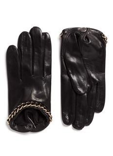 Maison Fabre 'Sasha' chain lambskin leather short gloves
