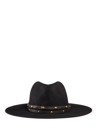 Main View - Click To Enlarge - Sensi Studio - Stud leather band wool felt hat