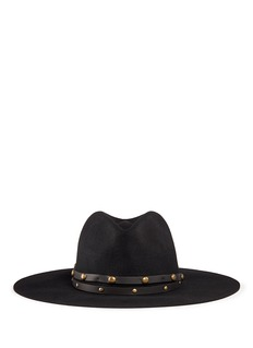 Sensi Studio Stud leather band wool felt hat