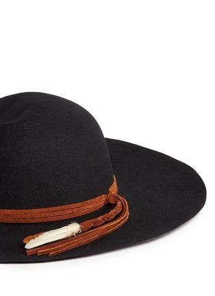 Sensi Studio-'Lauren' braided feather suede band wool felt hat