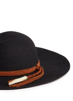 'Lauren' braided feather suede band wool felt hat