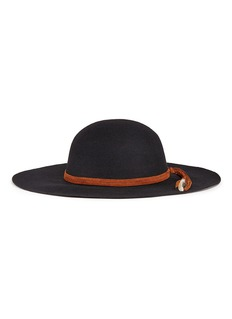 Sensi Studio 'Lauren' braided feather suede band wool felt hat