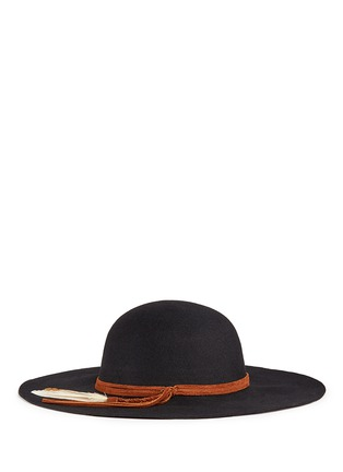 Figure View - Click To Enlarge - Sensi Studio - 'Lauren' braided feather suede band wool felt hat