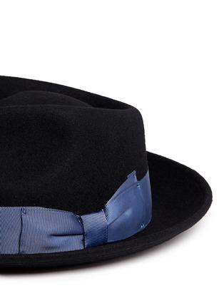 Detail View - Click To Enlarge - Sensi Studio - Grosgrain bow wool felt fedora hat