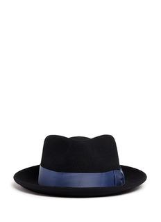 Sensi StudioGrosgrain bow wool felt fedora hat