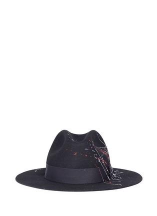 Main View - Click To Enlarge - Sensi Studio - 'California' paint splatter effect wool felt hat