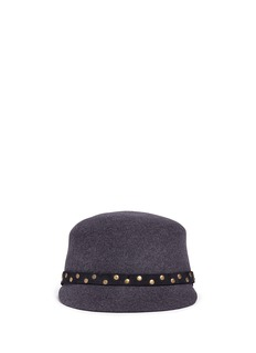 Sensi StudioStud leather band wool felt jockey cap