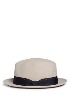 Sensi StudioStud grosgrain bow wool felt fedora hat