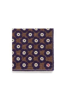 ISAIAFloral print virgin wool blend pocket square