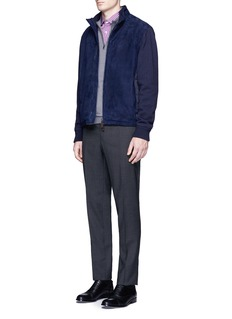 ISAIA'Parma' check plaid cotton shirt