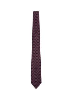 ISAIACheck wool twill tie