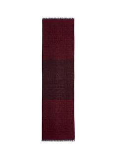 ISAIALogo jacquard cashmere-silk scarf