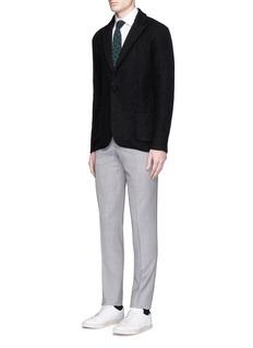 LardiniWool mohair blend knit tuxedo jacket
