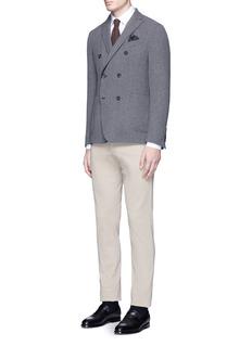 LardiniReversible double breasted wool-blend blazer