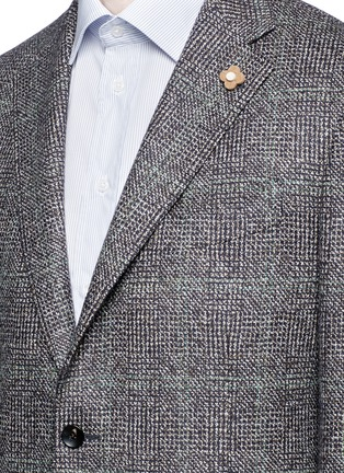 Detail View - Click To Enlarge - Lardini - Python mélange lambswool soft blazer