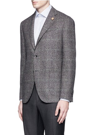 Front View - Click To Enlarge - Lardini - Python mélange lambswool soft blazer