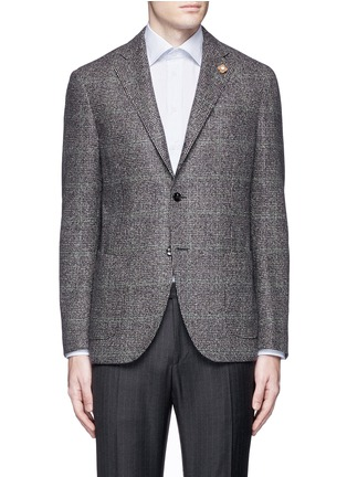 Main View - Click To Enlarge - Lardini - Python mélange lambswool soft blazer