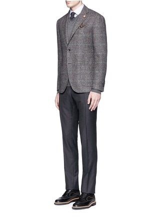 Figure View - Click To Enlarge - Lardini - Python mélange lambswool soft blazer