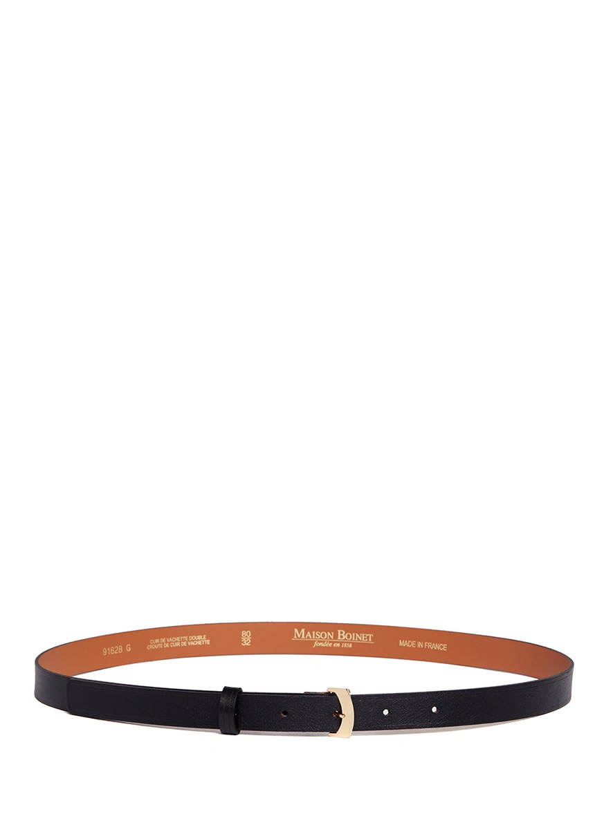Cowhide leather belt by Maison Boinet