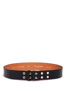 Maison Boinet Double eyelet buckle cowhide leather belt