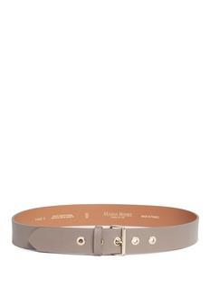 Maison BoinetMetal eyelet cowhide leather belt