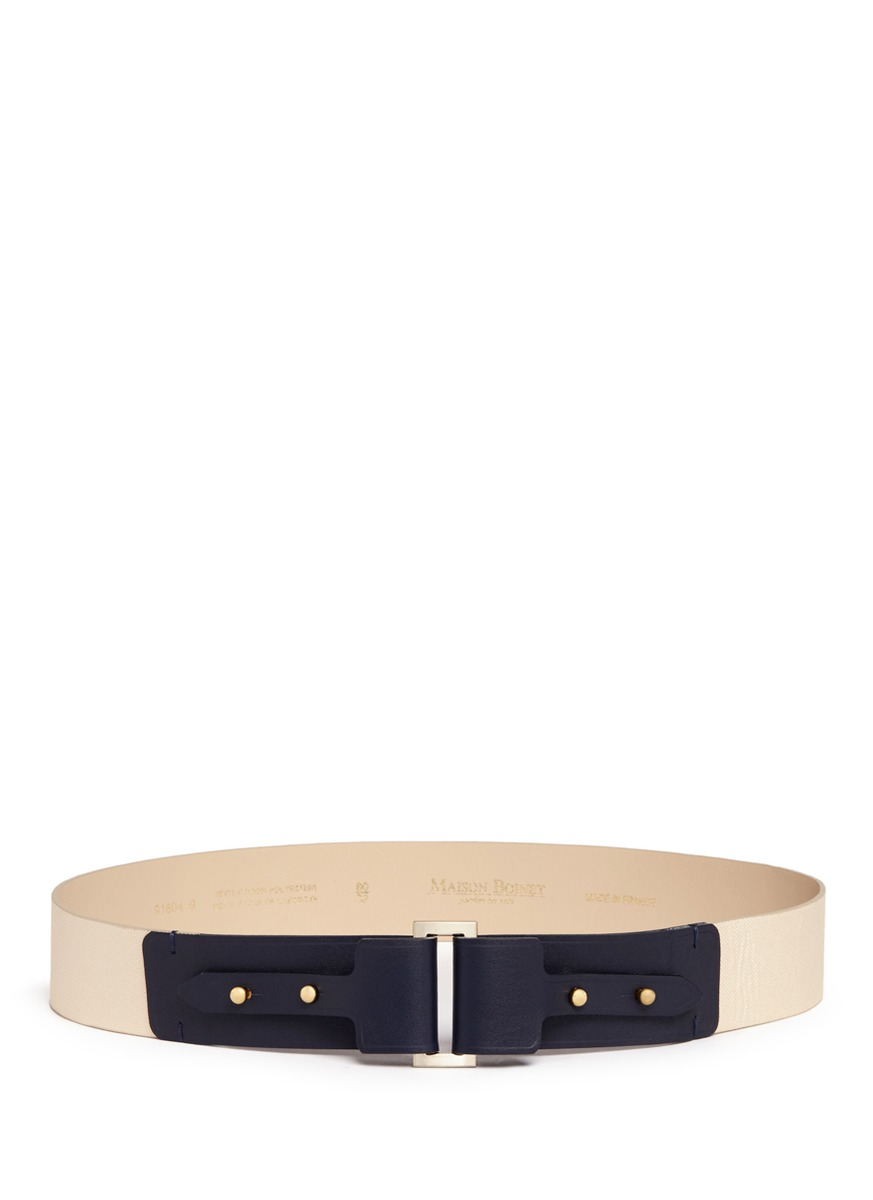 Canvas and leather corset belt by Maison Boinet