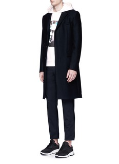 Neil Barrettx Interview 'Jay De Niro' hybrid print hoodie