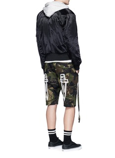 Haculla 'Saber' patch camouflage print shorts