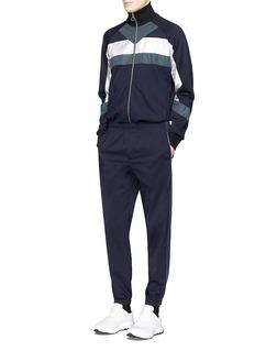 Tim Coppens'XTC' contrast panel track jacket