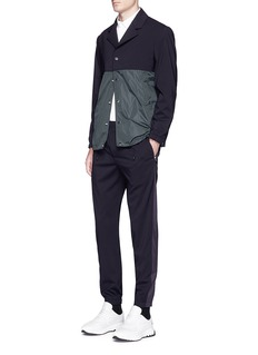 Tim CoppensTuxedo stripe wool jogging pants