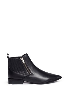Sigerson Morrison'Bambie' octagon heel leather Chelsea boots