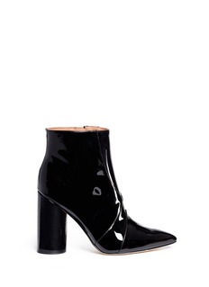 SIGERSON MORRISON 'Knox' point toe patent leather boots