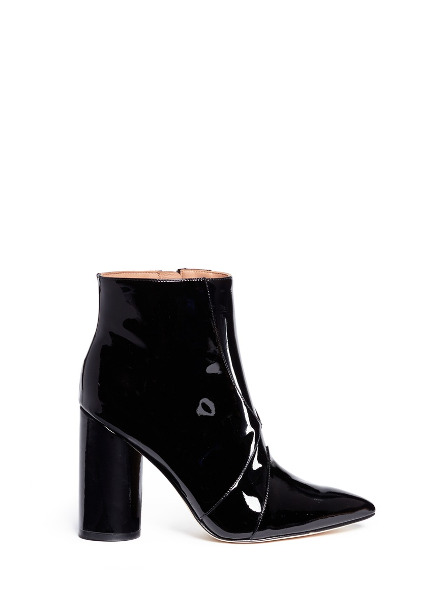 Knox point toe patent leather boots by SIGERSON MORRISON