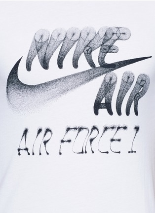 Detail View - Click To Enlarge - Nike - 'Nike Air Force 1 Art' spray paint logo print T-shirt