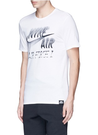 Front View - Click To Enlarge - Nike - 'Nike Air Force 1 Art' spray paint logo print T-shirt