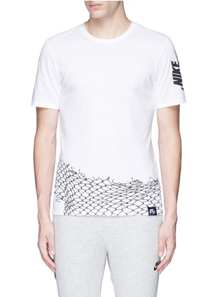 Nike-'Nike Air Chain Fence' print T-shirt