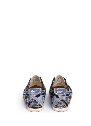 Back View - Click To Enlarge - Onitsuka Tiger - 'Mexico 66' denim patchwork sneakers