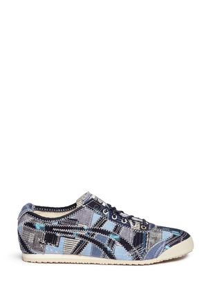 Main View - Click To Enlarge - Onitsuka Tiger - 'Mexico 66' denim patchwork sneakers