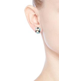 Miriam HaskellSwarovski crystal glass pearl stud earrings